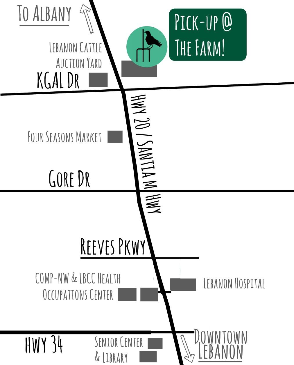 Farm pickup map